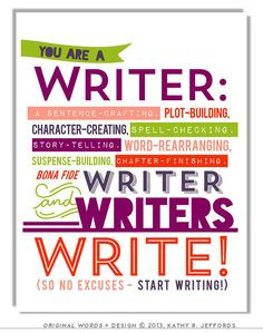 Writers Write Art Print To Motivate Your Writing For Procrastinating ...