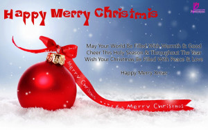 Greetings Card of Merry Christmas Happy Christmas Wishes Quote of ...