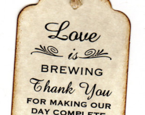 ... Cards / Thank You Tags / Coffee or Tea Tags / Labels - Vintage Style