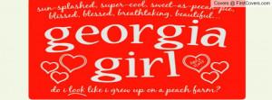 georgia girl Profile Facebook Covers