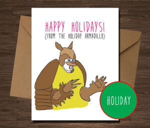 Funny Christmas Card Friends TV Show Holiday Armadillo Funny Christmas ...