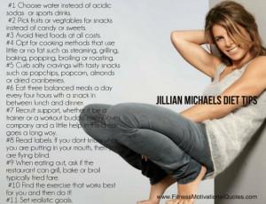 Jillian Michaels Diet Tips