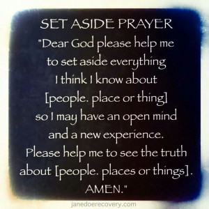 Ask God for help everyday