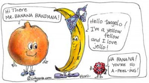 Free Fruit Clipart - Pictures of fruits - with Word Play.