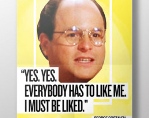 PRINTABLE Seinfeld Quotes: George C ostanza - Poster Wall Art ...