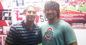 Brendan Schaub pictured with Ohio State athlete who committed suicide