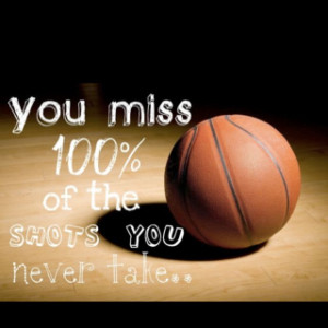... basketball as a way of exercise. This is a good motivational saying to