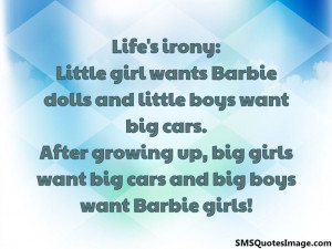 Big boys want Barbie girls...