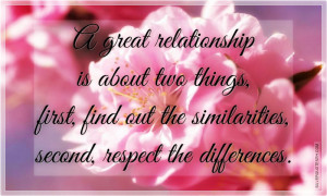 Great Relationship Requires