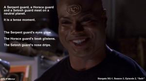 Serpent guard, a Horace guard and a Setesh guard meet on a neutral ...