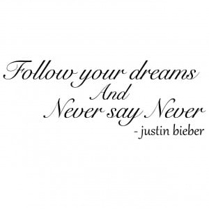 never say never quotes
