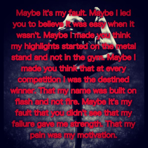 Gymnastics quote i absolutley love this! only vymnasts can understand ...