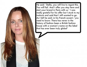 Stella McCartney on what her boss at Chloé said to her when she ...