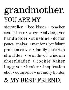 grandma quotes best friends quotes grandparents a grandmothers love ...
