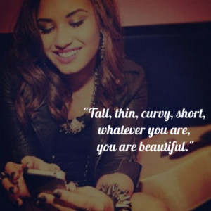 demi lovato quote about be yourself beautiful born this way bullied ...