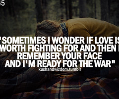 Tagged with love fight war quote