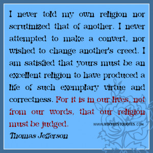 Great quotes about religion, it is in our lives