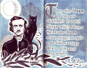 ajparker87:Edgar Allan Poe quote on Moleskine by Daniela BalloneHappy ...