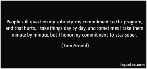 People still question my sobriety, my commitment to the program, and ...