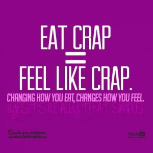 Eat crap = Feel like crap by Natural Health Revolution