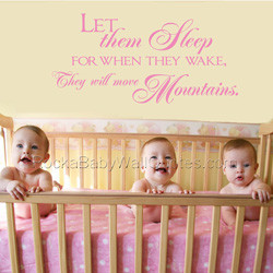 ... twins wall quote our let them sleep wall quote has an inspiring quote