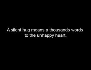 happy, heart, hug, quote, sad