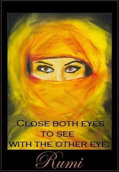 Close both eyes to see with the other eye ..