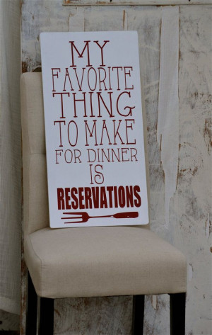 kitchen sign wood funny quotes hand painted decor cooking reservations ...