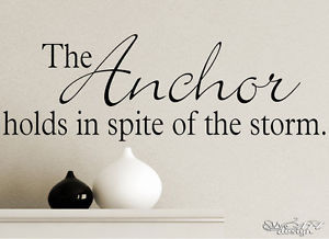 Details about ANCHOR - WALL DECAL VINYL ART LETTERING GRAPHIC family ...