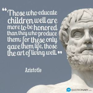 Aristotle quote about education - Imgur