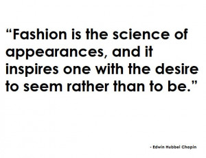 Randome fashion quotes of the week