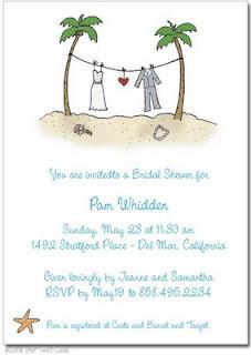 cool beach wedding invitations samples wording ideas for beach wedding ...