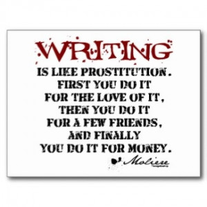 Moliere Writing Quote Postcards