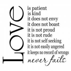 ... Quotes_Love is Patient Love is Kind 22x20 vinyl wall sayings quotes