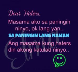 Patama Quotes Tagalog Para Sa Mga Ex ~ Dear haters Quotes