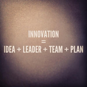 Innovation= idea + leader + team + plan: it is essential for business ...