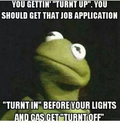None of my business meme. Kermit