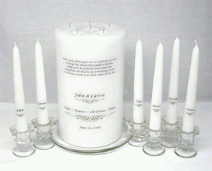 Family unity candle