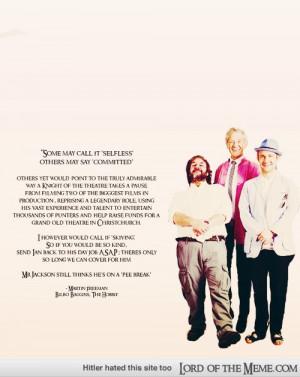 Martin Freeman's quote on Ian McKellen