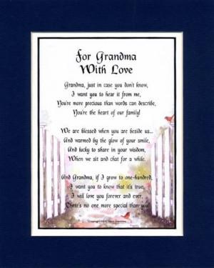 Love You Grandma Poems