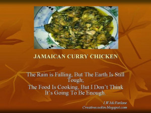 Jamaican Curry Chicken: Food Thoughts