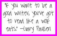 Gary Paulsen ... reading and writing ARE connected!