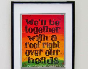 Song Lyrics Print Bob Marley Art - Love Quotes Wall Art - Rasta Colors ...