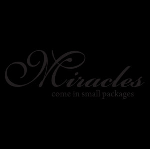 Miracles Small Packages Wall Quotes™ Decal