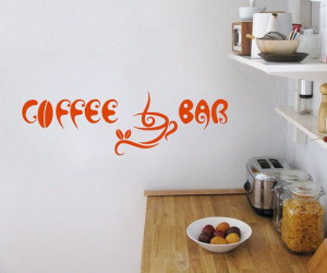 Vinyl Decal Coffee Bar Cup Beans Quote Home Wall by BestDecals, $17.99