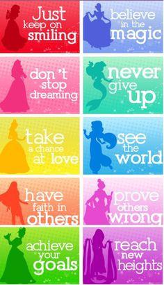 Disney Princesses Famous Inspirational Quotes