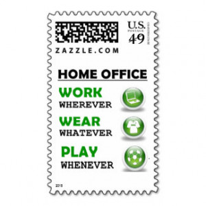 Work From Home Office Funny Quote Postage