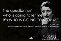 Famous Women Quotes / by TimeToKickBuTs