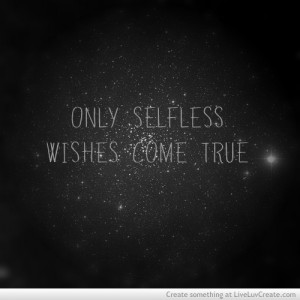 Selfless Wishes