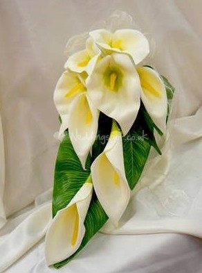 calla lily bouquet pageant